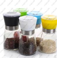 best spice grinder - High Quality Best selling Glass Pepper set Salt Herb Spice Hand Grinder Mill manual pepper mill