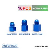 Wholesale Tansky Fitting Flare Reducer Female AN to Male AN Blue Aluminum Nickel Plated ANW ANN