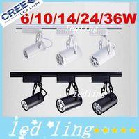 Wholesale Led Track Light W W W W W COOL Warm white Led Ceiling Spotlight AC V led spot lighting CE ROHS