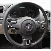 Wholesale Volkswagen Golf POLO Bora Sagitar Jetta High quality ABS Chrome Steering wheel cover Steering wheel decoration