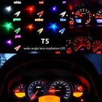 auto bulb types - T5 LED Light Bulb Lamp DC V Wedge Auto Dash Instrument Light Dashboard Bulb Globe Convex Suitable All types Car