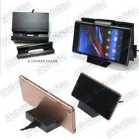 Wholesale Magnetic USB Charger Charging Dock Docking Stand Desktop With Micro USB Cable For Sony Xperia Z Z2 Z3 Z1 L50W DK36 Smartphone Tablet PC
