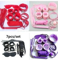 Cheap Sex Toys 7 Pcs kit,4 Color Leather fetish bondage erotic toys Sex toy for couple Furniture Sex product for couple BDSM Restrain
