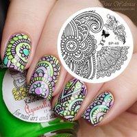 arabesque pattern - Born Pretty Original Arabesque Patterns Peony Image Nail Art Stamping Template Image Plate BP48