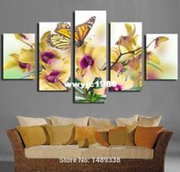 wall decor art canvas - New modern Art beautiful phalaenopsis canvas painting Wall Decor hot sale