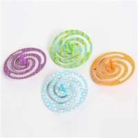 Wholesale 4PCS Wooden retro spinning top Kids toys Early educational toys Peg top Gyro Birthday gift color cm