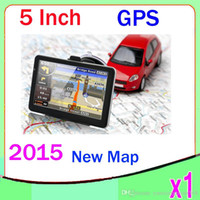 Wholesale 5inch car gps navigation TFT touch screen built in gb suport fm mp3 video player wince6 ZY DH