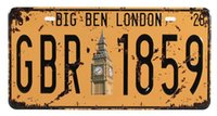 big house signs - GBR Big Ben London Metal Tin Signs Art wall decor House Bar Cafe Retro License Plates mix order CM