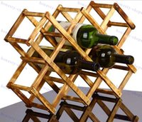 alcohol wine rack - Folding wood wine rack alcohol neer care drink bottle holders solid wood shelf Special new cabinet European creative gift series