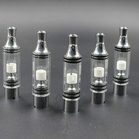 Cheap Vhit Glass Atomizer for Wax Dry Herb E cigs Vaporizer Tank with Straight Tube Metal Drip Tips Ceramic Coil ATB020