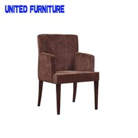 Wholesale fabric dining chairs modern dining room chairs with armrest New design dining chair french dining chair