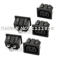 ac outlet types - 5Pcs AC V A IEC C13 Female Outlet Power Socket Clamp Type Adapter