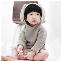 Wholesale kids sweaters Cute Bunny Knit pullover baby girl sweaters autumn fashion cartoon long sleeve casaul Sweater Tops