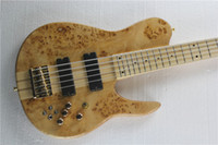 bass guitar fretboard - Nature Wood Fodera Imperial Bass One Piece Maple Neck through Body Maple Fretboard Golden Hardware Butterfly String Electric Bass Guitar