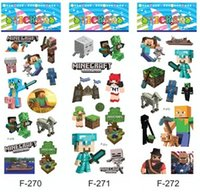 Wholesale New Preorder Minecraft Sticker Minecraft Creeper Steve and all others character sticker