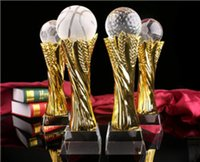 baseball events - crystal gold football basketball trophy cup high quality carve name for sports event small size
