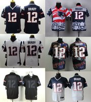 Wholesale New Tom Brady Men s Elite American Football Jersey Athletic Outdoor Apparel Embroidery Name Logo Allow Mix Order