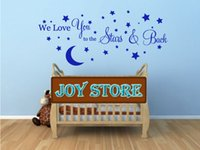 baby nursery decorating - We Love You to the Stars and Back wall sticker nursery baby room decorating Children s Room CM