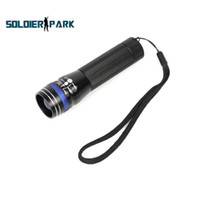 Cheap MXDL SA-501 Airsoft Hunting CREE Q5 LED 3 Mode 200 Lumens 1.5V-3.7V AA 14500 Zoomable Focus LED Flashlight with Red Blue Head order<$18no tr
