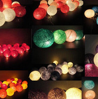 Wholesale Novelty households luminaria rattan cotton ball string lights Christmas FAIRY Wedding PARTY Home DECOR home rooms Garland decoration lamps