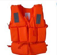 Wholesale Swimming Life Jacket Vest Adult Foam Flotation Folding kayaks boats Swimming Safety life jacket With Whistle Water Safety Products