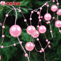 acting lines - Christmas tree ornaments cm pink line column bead string hang act the role of g supplies crafts hanging party supplies