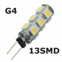 G4 13SMD 5050 Ampoule LED 12V lampes en cristal Accueil Car RV Marine Boat LED Lampe LED blanche