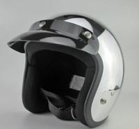 Wholesale Motorcycle helmet half helmet high shiny silver plating personalized retro helmet helmet Glitter Mirror S M L XL XXL