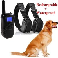 Wholesale A Trainer Blue Screen DR electric shock rechargeable and waterproof bark collar dog training collar