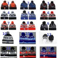 beanie urban - New Christmas series of urban camouflage baseball team of foreign trade knitted hats fans wool hats