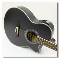Wholesale Export electrical box jean inch basswood folk acoustic guitar AG40 matte black Dom training special