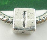 antique alphabet letters - hot Antique Silver Alphabet Letter quot I quot Charms Beads Fit European Charm x7mm B03740