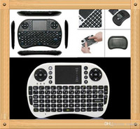 Wholesale 20PCS Fly Air Mouse Rii Mini i8 G Wireless Keyboard with Multi Media Remote Control Touchpad Handheld for Google Android Smart TV Box Tab