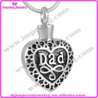 Bohemian beautiful memory - IJD8374 Unique Design Stainless Steel Cremation Jewelry Memory For Dad With Beautiful Necklace Keep Love One Close to Your Heart
