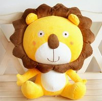 animal brand lion - 2016 HOT SALE brand new lion leo stuffed dull bolster plus animals cute toy birthday gift Christmas gift