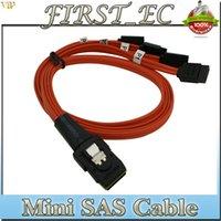 mini sata cable - hot sale cm red mini sas i p sff to sata p hd disk cable