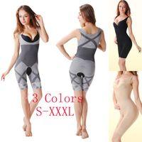 bamboo shapewear - Bodysuit Women Charcoal Sculpting Underwear Bamboo Slimming Suits shapewear waist training corsets cincher shaper waist trainer