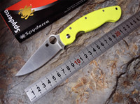 apple knives - Ultra high quality Spyderco C36 Folding Knife CPM S30V G10 Handle Apple green Camping Hunting Survival Knives Military Pocket Outdoor Tool