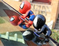 Wholesale Spider Man Auto Part Lovely Car Accessories Cute Decoration Black Red Cool Suction Cups Doll