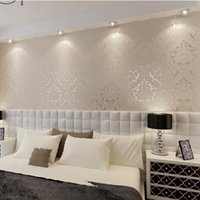 Wholesale Hot sales European wallpapers non woven flocking wallpaper Of Wall paper wallpaper damask