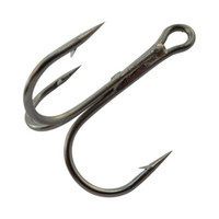 Wholesale Shelt s Black Nickle High Carbon Round Bend Fishing Treble Hooks