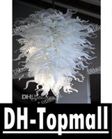 hand blown art glass - Milk White Modern Ceiling Light Hand Blown Glass Art Deco Chandelier
