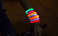 Wholesale 12pcs Nocturnal Necessity Adjustable LED Flashing Bracelet Light Up Bangles Outdoor Hiking Camping Gadgets L315