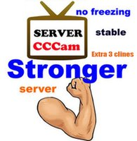 Wholesale Best CCcam Europe Cline Server year account Satellite Decoder Spain UK Germany France Italy Free in1 RCA Cable DHL Shipping
