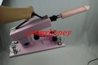 dildo machine - new powerful pink color automatic sex machine gun love machines with dildo sex toys for women masturbation machine drop shipping