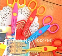 Wholesale Craft Scissors Creative scissors Decorative Wave lace Edge Craft Scissors order lt no track