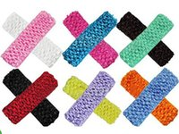 crochet baby headbands - 50 colors option Hot Sale Cute baby girl Crochet Headbands Hair Head Band Bow Kid Baby Girl Accessories