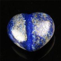 30 mm Lapis Rhodonite Forme du coeur Crystal Chakra Stone Sculpté Guérison Reiki Free Pouch