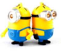 plastic flashlight - New Arrival Minion LED Light Keychain Key Chain Ring Kevin Bob Flashlight Torch Sound Toy Despicable Me Kids Christmas Promotion Gift