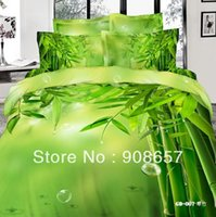 bamboo twill sheets - new thread count green bamboo printed girls bedding set D oil painting bed linen cotton full queen duvet covers sets
